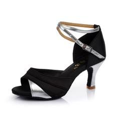 Donna Raso Similpelle Tacchi Sandalo Latino con Listino alla caviglia Scarpe da ballo (053053111)