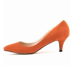 Donna Camoscio Tacchetto Stiletto Punta chiusa scarpe (085059022)