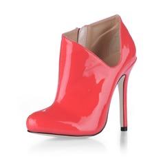 Lackleder Stöckel Absatz Absatzschuhe Geschlossene Zehe Stiefelette Schuhe (088020539)