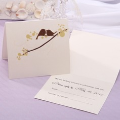 Personalized Modern Style Top Fold Response Cards (Set of 20) (114063911)