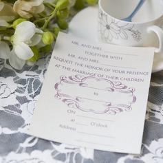 Klassisk stil Enkla kort Invitation Cards (Sats om 50) (114063995)