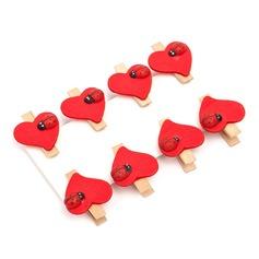 Herzförmige Aus Holz Clips (Set aus 8) (051072236)