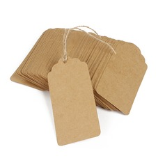 Stile classico Rettangolare Kraft Paper tag (Set di 100) (051166362)