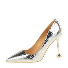 Frauen PU Stöckel Absatz Absatzschuhe Geschlossene Zehe mit Andere Schuhe (085139785)