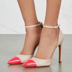 Donna Similpelle Tacco a spillo Stiletto Punta chiusa con Fibbia scarpe (085153099)