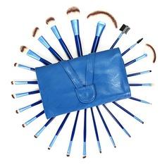 24 Pcs Blue Artificial Fibre Makeup Brush Set With Slap-up Pouch (046071202)