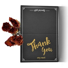 Modern Style Side Fold Thank You Cards (Set of 50) (114205154)