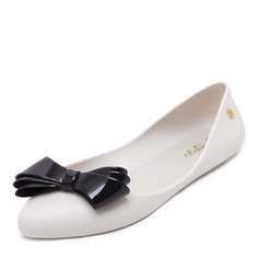 Donna PVC Ballerine Punta chiusa con Bowknot scarpe (086165230)