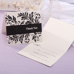 Personalized Modern Style Top Fold Response Cards (Set of 20) (114063939)