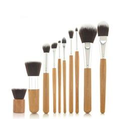 10Pcs Bambou poignée Fibres sac Maquillage (046049065)