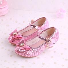 Fille de bout rond Bout fermé similicuir Chaussures de fille de fleur avec Bowknot (207200905)