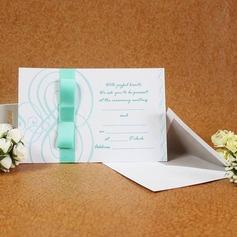 Tappning Färg Enkla kort Invitation Cards med Stråkar/Färgband (Sats om 50) (114030721)