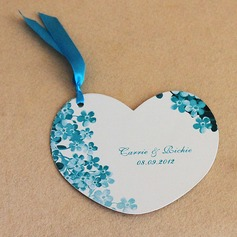 Personalized Heart Shaped Paper With Ribbons (Set of 50) (118032320)
