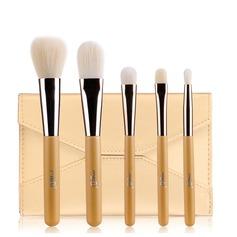 Artificial Fibre Basic 5Pcs Gold Pouch Makeup Supply (046074587)