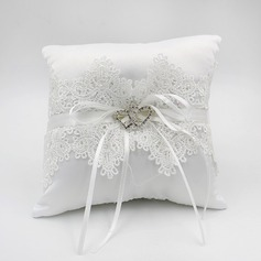 Elegant Ring Pillow in Lace/Polyester With Bow/Lace (103190800)