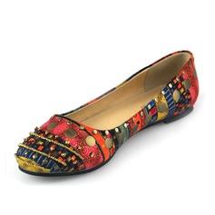 Leatherette Flat Heel Flats Closed Toe shoes (086062101)