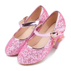 Fille de bout rond Bout fermé similicuir Chaussures de fille de fleur (207200912)