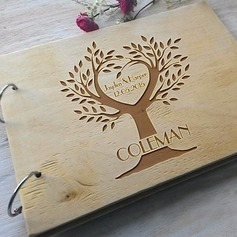 Personalized design Wood Guestbook (101198163)