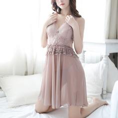 Lace/Tulle Classic Feminine Sleepwear (041203537)
