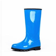Frauen PVC Niederiger Absatz Stiefel Stiefel-Wadenlang Regenstiefel mit Andere Schuhe (088127055)