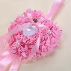 Rose romántica Cojín en espuma con Cintas/Diamantes de imitación/La perla de faux (103169038)