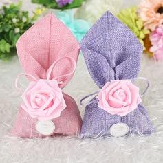 Charmant/Rose Conception/Élégante Autre Lin Sacs cadeaux (Lot de 12) (050173180)