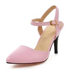 Donna Similpelle Tacco a spillo Sandalo Stiletto Punta chiusa con Altrui scarpe (085168414)
