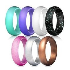 Modern Silikone Fashionable Resin Fashion Rings Gaver (129140566)
