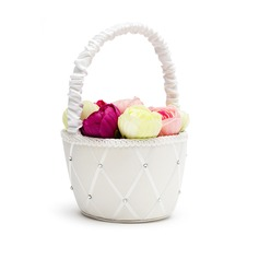 Classic Flower Basket in Satin With Rhinestones (102018059)