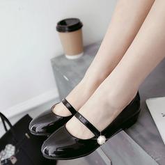 Donna PU Senza tacco Ballerine Punta chiusa con Perla imitazione scarpe (086145727)