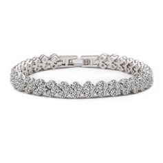 Joyería hermoso circón platino plateado Regalos (129166761)