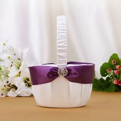 Hübsche Blumenkorb mit Strasssteine/Schleifenbänder/Stoffgürtel (102039776)