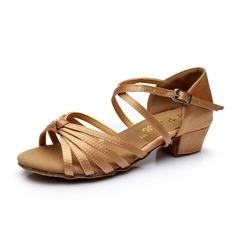 Per bambini Raso Tacchi Sandalo Latino con Listino alla caviglia Scarpe da ballo (053053049)