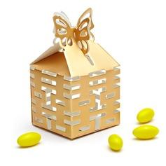 Doppia Felicità Cut-out Cubi Scatole di Favore (set di 12) (050010120)
