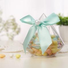 Creativo/Caramelle Progettazione A Forma di Bottiglia Plastica Barattoli e Bottiglie con Nastri (set di 12) (050168325)