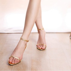 Vrouwen Kunstleer Stiletto Heel Sandalen Peep Toe Slingbacks met Vastrijgen schoenen (087113616)