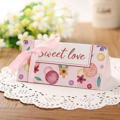 Creativo/Stile classico/Bella Carta della carta Scatole di Favore con Nastri (set di 12) (050173189)