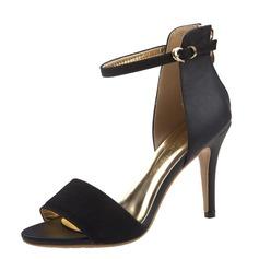 Femmes Suède Similicuir Talon stiletto Sandales À bout ouvert avec Boucle chaussures (087059843)