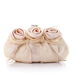 Gorgeous Silk/Tulle With Flower Clutches (012013430)