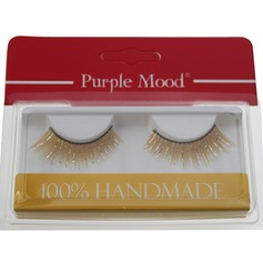 1 Pair Attractive Yellow Shimmer Cannetille Style False Eyelashes CFE461 (046049686)