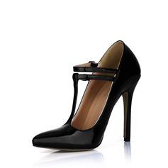 Lackleder Stöckel Absatz Absatzschuhe Geschlossene Zehe mit Schnalle Schuhe (085022610)