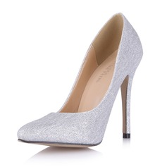 Women's Sparkling Glitter Stiletto Heel Pumps Closed Toe shoes (085053018)