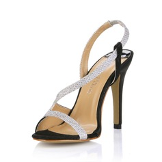 Similicuir Talon stiletto Sandales Escarpins chaussures (087017924)