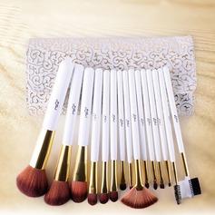Pure 15Pcs Artificial Fibre White Pouch Makeup Supply (046074623)