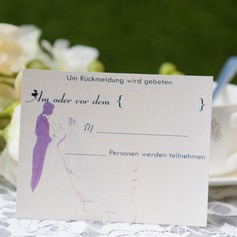 Personlig Bride & Groom stil Svarskort (Sats om 50) (114063941)