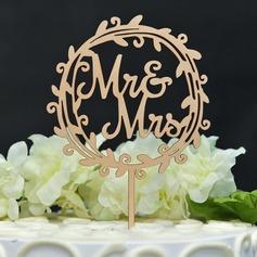 Mr & Mrs Legno Decorazioni per torte (119157017)