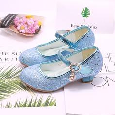 Fille de bout rond Bout fermé similicuir Chaussures de fille de fleur (207200907)