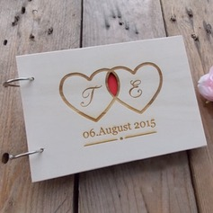Personalized design Wood Guestbook (101198165)