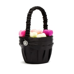 Pure Flower Basket in Satin With Rhinestones (102026348)