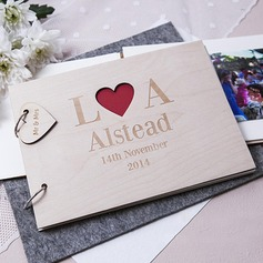 Personalized design Wood Guestbook (101198169)
